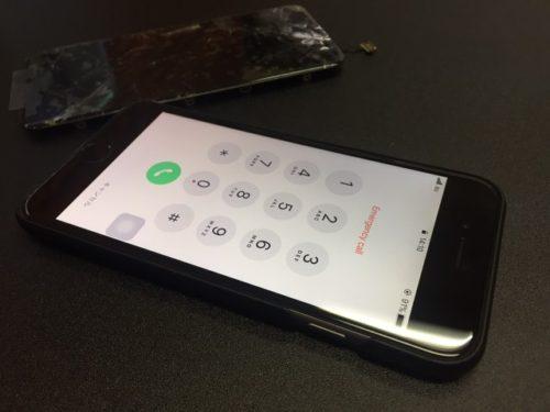 21a1fdeac7 iPhone6黒】落とした衝撃で画面全体がひび割れ!   大宮のiPhone修理で ...
