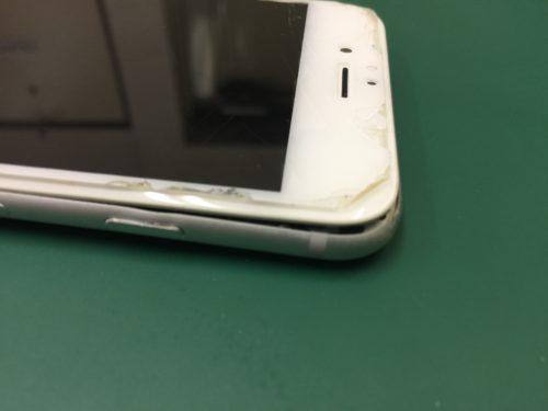 2883e03c0c 2018/08/30 落とした衝撃で画面が外れてしまったiPhone6のフレーム修正!